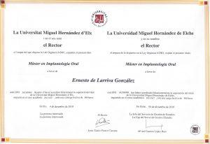 Ernesto de Larriva master implantologia oral